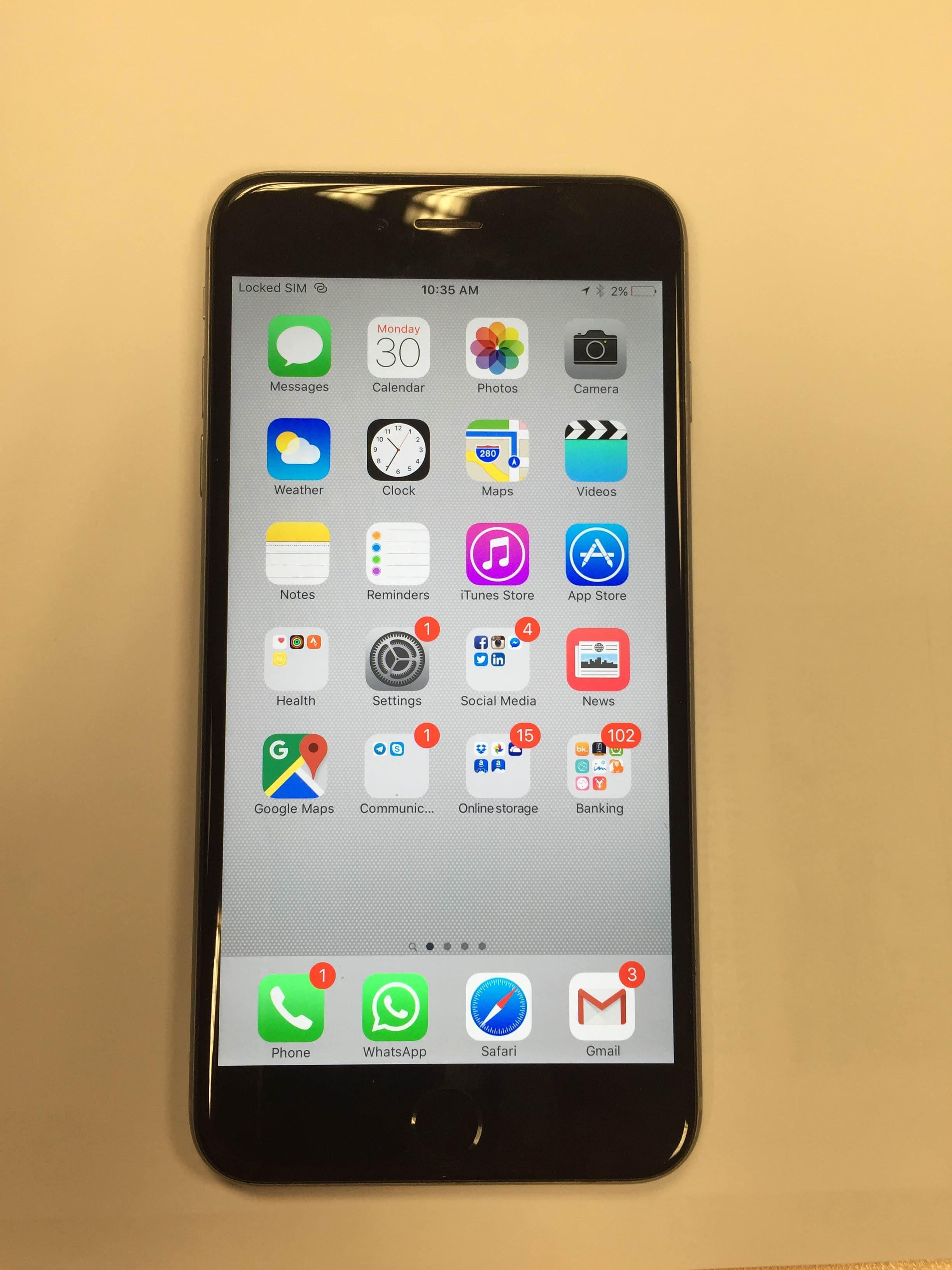 venta iphone 6 plus 64 gb gris espacial libre venta segunda mano apple. Black Bedroom Furniture Sets. Home Design Ideas