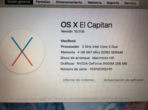 MacBook 5,2 Blanco